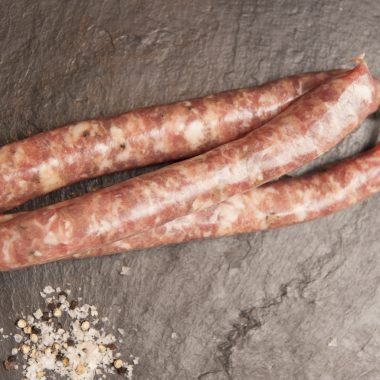 pork & cracked pepper sausages